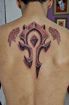 world of warcraft tattoos   Horde tattoo
