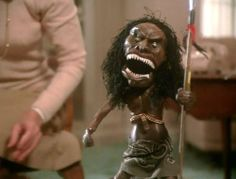 The murderous Zuni doll from TRILOGY OF TERROR (1975) This is one of my all-time favourite horrors, from the masterful pen of Richard Matheson.