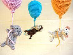 Crib Mobile - Crochet Mobile - Balloon Mobile - Baby Mobile - Nursery Decoration - Nursery Furniture - Baby Shower -