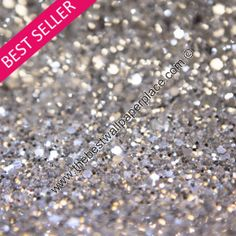 Glitter Wallpaper - Shades of Silver & Black - Silver - SSB3