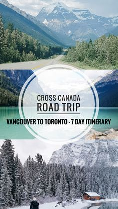 This is your ultimate 7 day Cross-Canada road trip itinerary - Vancouver, British Columbia to Toronto, Ontario. The total driving time . My Road Trip, Family Road Trips, Road Trip Hacks, Family Vacation Destinations, Family Vacations, Cruise Vacation, Disney Cruise, Family Travel, Cross Canada Road Trip