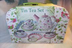 Cheeky Chops Shop  - Pastel Bird Design Tin Tea Set In Carry Case, $34.95 (http://www.cheekychops.com.au/pastel-bird-design-tin-tea-set-in-carry-case/)