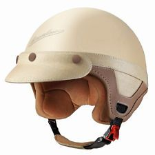 Borsalino Panama Motorcycle Scooter Vespa Luxury Helmet Matt Cream