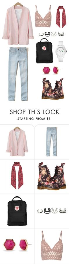 """Untitled #3"" by lovely26-1 ❤ liked on Polyvore featuring Hollister Co., Jaeger, Dr. Martens, Fjällräven, Trina Turk, Jonathan Simkhai and Lacoste"