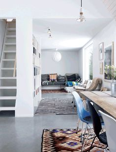 #Rugs and #concrete_floor #living_room