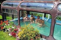 Pool out if old bus frame