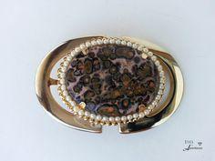 Women's belt buckle,  Leopard skin Jasper, Healing gemstone, OOAK, Leopardskin, Free shipping, gift for her