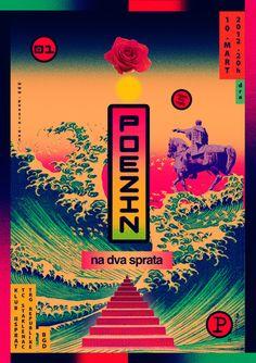poezin 3 poster by dragana nikolić https://www.typographicposters.com/dragana-nikolic/