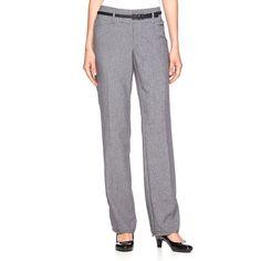 Women's Apt. 9® Modern Fit Belted Dress Pants, Size: 16 Short, Grey