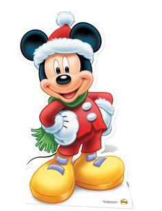 MICKEY MOUSE CHRISTMAS CUTOUT