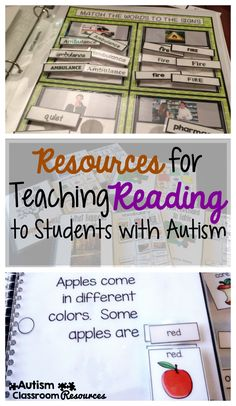 Resources for Teaching Reading to Students with Autism Autism Classroom Resources