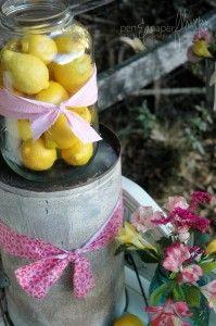 cute lemons with bow