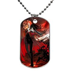 Hellsing Alucard Anime Custom Dog Tag with Neck Chain Aluminum Oval Dog Tag Large Size Necklace Design by Stbenn >>> Click image for more details.