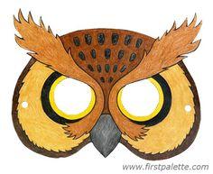 Ideas for painting pumpkins Printable Animal Masks Craft | Kids' Crafts | FirstPalette.