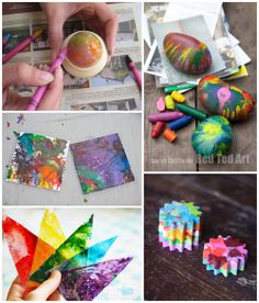 6 Creative Melted Crayon Activities