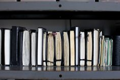 Rows of journals // Photography by Emily Johnston