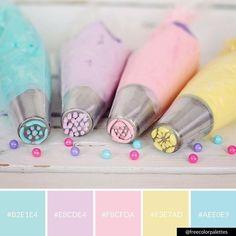 Pastel | Baking |Color Palette Inspiration. | Digital Art Palette And Brand Color Palette.
