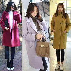 Gmarket - MAKMAKS Oversized coat / thigh length / knee length ...