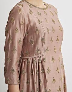 Buy Rose Pink Hand Embroidered Kurta Set by Dhruv Singh Available at Ogaan Online Shop Stylish Dresses For Girls, Stylish Dress Designs, Girls Dresses Sewing, Pakistani Fashion Casual, Pakistani Dresses Casual, Sleeves Designs For Dresses, Dress Neck Designs, Kurta Designs Women, Salwar Designs