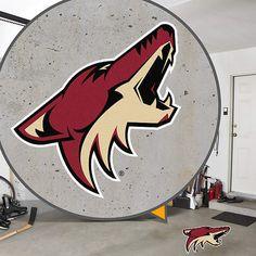 Arizona Coyotes Street Grip Street Grip – Removable, Not Reusable | Arizona Coyotes Man Cave/Garage