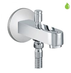 Jaquar Fusion Bath Tub Spout With Button Attachment For Hand Shower With  Wall Flange