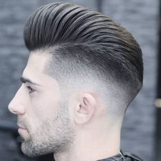High Fade Pompadour - Best High Fade Haircuts For Men: Cool High Taper Fade Hairstyles, High Skin, Bald, Taper, Undercut Fade Men's Haircuts Mens Grey Hairstyles, Undercut Hairstyles, Cool Hairstyles, Hairstyles 2018, Medium Hairstyles, Wedding Hairstyles, Very Short Haircuts, Cool Haircuts, Haircuts For Men