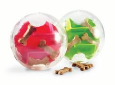 The Orbee-Tuff Mazee is the newest interactive dog toy from Planet Dog. A clear orb encases a colorful maze that, when filled with treats, is sure to stimulate your pup's brain and keep them busy for hours!