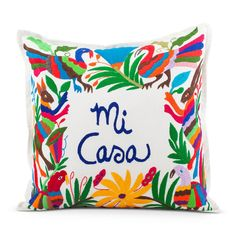 mi casa otomi pillow