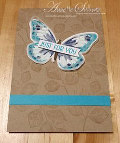 Lavender Thoughts | Annette Sullivan | Stampin' Up! Watercolor Wings Turquoise Covered Notebook