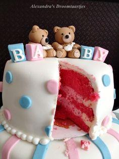 Alexandra's droomtaartjes: Gender reveal cake