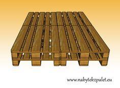 Tato postel je vyrobena z přírodního broušeného materiálu (jehličnaté řezivo) a je složena ze čtyř kusů palet (vyrobených na míru!). Palety jsou k