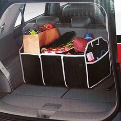 FakeFace® 2 en 1 Bag Pliable Collapsible Auto Sac de Rangement Grand Format Sac de Stockage Organisateur Sacoche Portable pour Coffre…