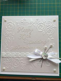 Handmade 30th Wedding Anniversary Card - Britannia Dies