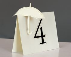 Umbrella Table Numbers ... Make Matching Umbrella name placeholders, favors & centerpieces!