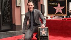 'Big Bang Theory' Star Jim Parsons - gets a star on the Hollywood Walk of Fame.  BAZINGAWESOME!