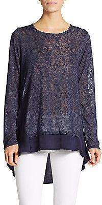 Semi-Sheer Sweater - Shop for women's Sweater - NAVY Sweater