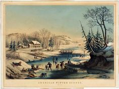 §§§ : American Winter Scenes. Morning : Currier & Ives : 1854