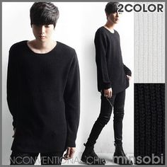 Men's Long length Sweater with round Neck (top-7348)