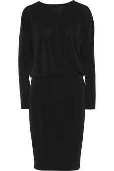 By Malene Birger Silliana washed silk-paneled stretch-crepe dress | NET-A-PORTER