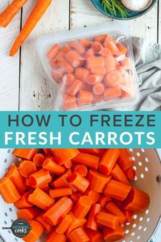 Learning how to freeze carrots is a great way to preserve this essential ingredient that is a staple of so many recipes. A freezer stash of frozen produce opens the door to amazing and speedy meals. How To Freeze Carrots, Freezing Carrots, How To Store Carrots, Freezing Vegetables, Frozen Vegetables, Store Vegetables, Veggies, Mini Carrots