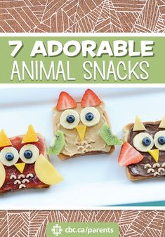 Make snack time more fun with these sweet animals snacks by @kirstenreese. Perfect for picky eaters and kitchen fun.