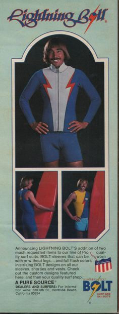 Gerry Lopez Lightning Bolt Ad. Hagins collection.