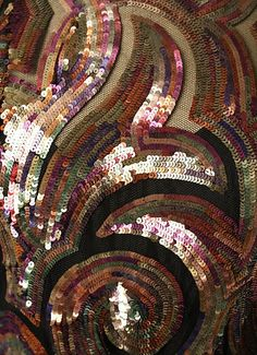 Mainbocher Dress detail - 1937 - Attributed to Mainbocher (American, 1890-1976) - Silk, metal, cellulose: