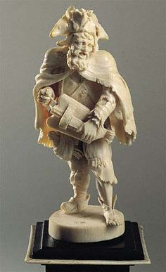Carved ivory by Wilhem Kruger 1680-1756  Private Collection