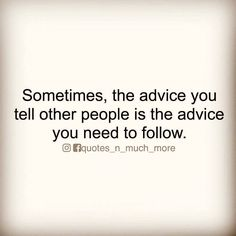 Take your own advice - it's good!!