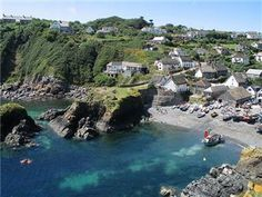 Cadgwith Cove on the Lizard Peninsula, Cornwall UK