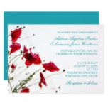 Red Poppies Summer Wedding Invitations