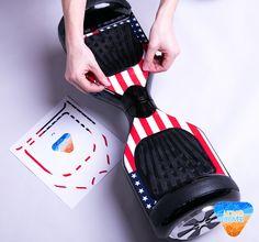 American Flag Hoverboard Custom Vinyl Wrap Decal
