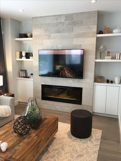 Terrific Pic Fireplace Remodel with built ins Suggestions Excellent Screen Fireplace Remodel with built ins Popular TV, Gas Fireplace, Stone, built ins Fireplace Built Ins, Home Fireplace, Fireplace Remodel, Living Room With Fireplace, Fireplace Design, Fireplace Stone, Fireplace Ideas, Tv With Fireplace, Basement Fireplace