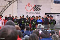 #KBK 69th Kuurne - Brussels - Kuurne 2017 Start / Podium / Team Cycling Academy (ISR)/ Ben PERRY(CAN)/ Guillaume BOIVIN (CAN)/ Dennis VAN WINDEN (NED)/ Hamish SCHREURS (AUS)/ Mihkel RAIM (LET)/ Tyler WILLIAMS (USA)/ Aviv YECHEZKEL (ISR)/ Zakkari DEMPSTER (AUS)/ Kuurne - Brussel - Kuurne (200,7Km)/ K-B-K / Bxl /
